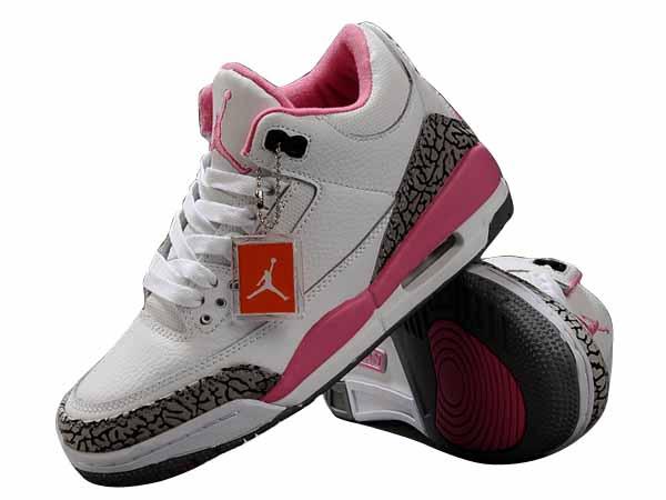 wholesale dealer dd626 e4edc chaussure a talon nike,Nike AIR Jordan 3 Femme lanc Ciment Rose