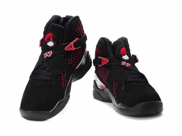 grande vente d41df c6ef1 air rose et noir montante,Nike Air Jordan 8 VIII Enfant Noir ...